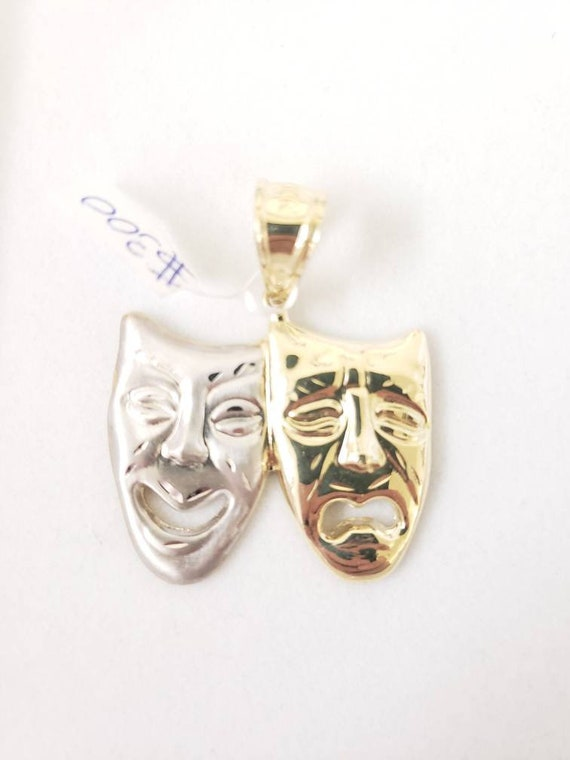 Laugh now cry later pendant