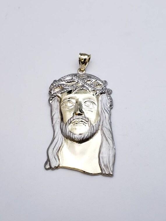 10k large jesus pendant