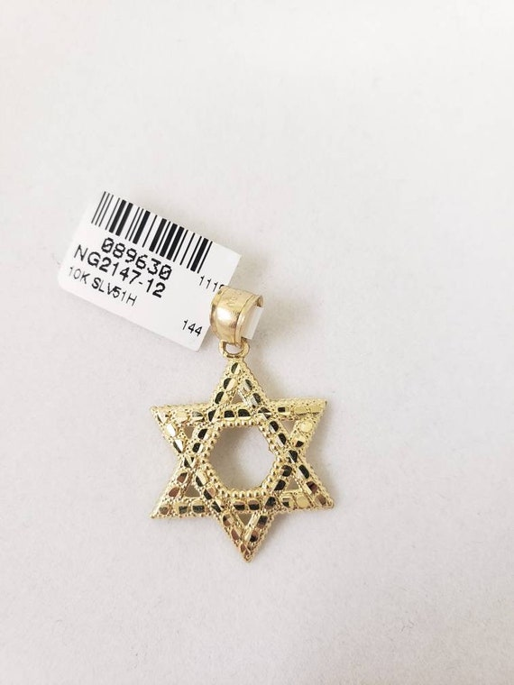 Nugget star of david pendant