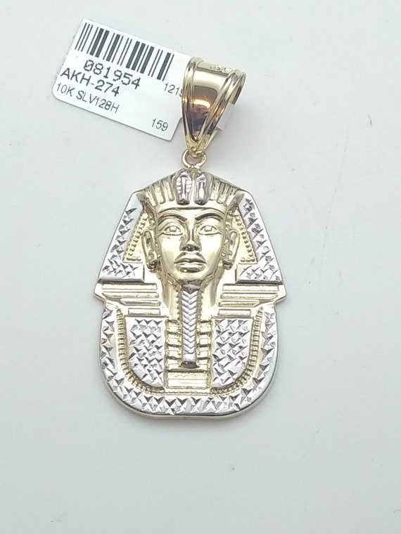 10k yellow gold pharaoh pendant