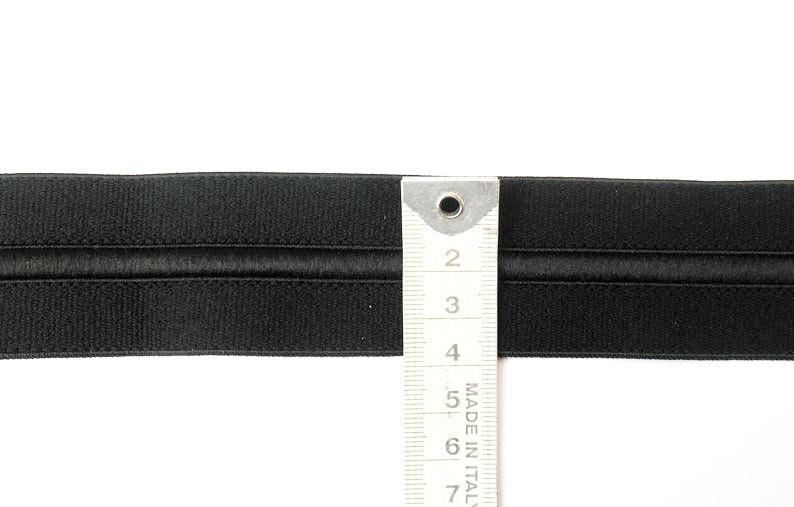 Black Elastic WAISTBAND ELASTIC DRAWCORD 40mm Elastic Black Draw cord Elastic Sewing Elastic Bundle 1.5 inch Elastic DrawCord Elastic