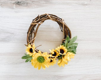 Sunflower Mini Wreath for the Sunny Friend in Your Life