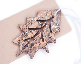 Enchanting Glitter Leaf Gift Tag - Nature Lover Gift Tag