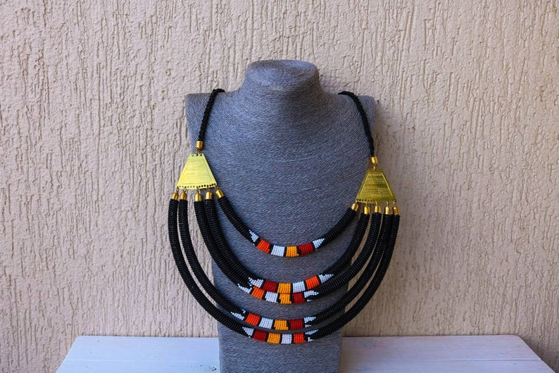 Women jewelry Layered necklace Masai necklace SALE African beaded necklace Christmas gift for her Statement necklace African jewelry