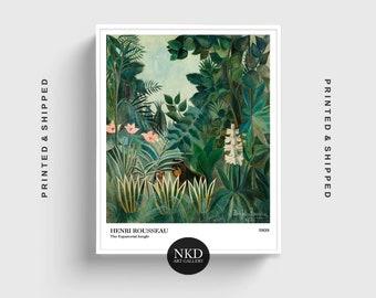 The Equatorial Jungle | Henri Rousseau | Rainforest Decor, Home Decor, Exhibition Print, Tropical Poster, Jungle Theme Wall Art Painting