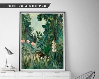 A4 size Canvas Art Print Poster Unframed The Equatorial Jungle H.Rousseau