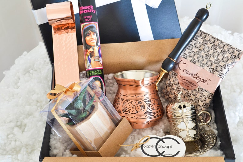 Husband Gift Sister Friend Holiday Gift. Copper Products Gift Box Birthday Box for Her-Him  Dad Gift Basket for Inspirational Gift