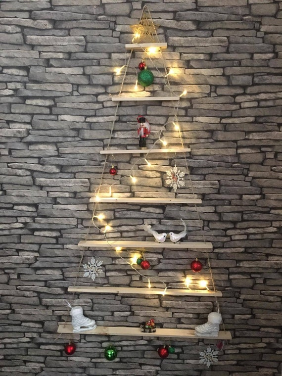 Wooden Wall Hanging Christmas Tree Etsy