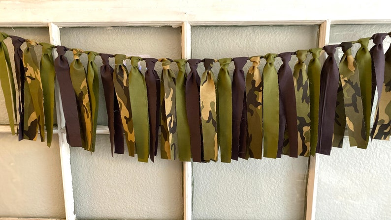 army coming home decor army party army banner army decor Army fabric garland army birthday decor
