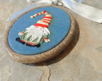 Gnome ornament | embroidered ornament | Christmas tree ornament | stocking stuffer