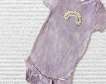 Rainbow machine embroidered baby bodysuit | rainbow baby onesie | cute baby shower gift | rainbow baby