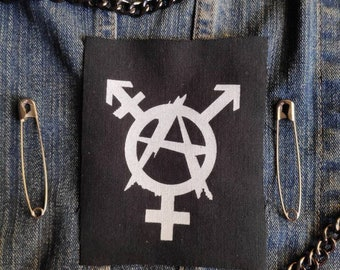 Trans equallity -transgender punk patches-Patches for jackets-Patch-Punk clothing-Lgbtq patches-Punk accessories-Antifa patches