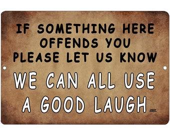 Sarcasm Served Day Tin Metal Sign Decor FUNNY HUMOROUS NEW