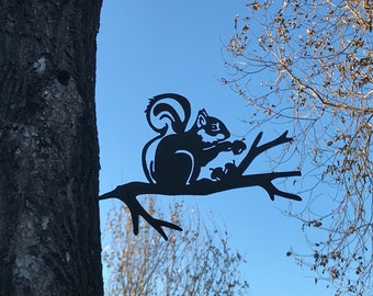 perfect gift for bird lover 10 gauge corten weathering steel Branch Art Bluejay lifesize metal bird outside yard art