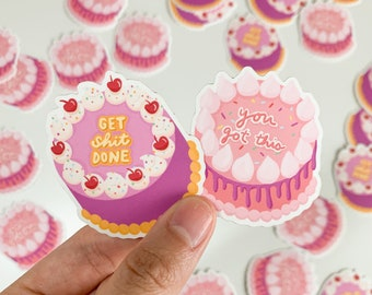 You Got This/Get Shit Done - Korean Lunchbox Cake Stickers   Bullet journal   Kawaii aesthetic, Motivational, Asian Bakery