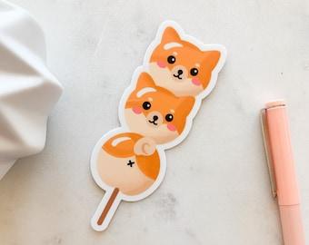 Shiba Inu Dango Sticker   Doge, Japanese food, Asian Snack, Dog stickers