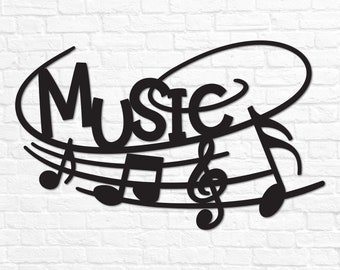 Music Wall Decor Etsy