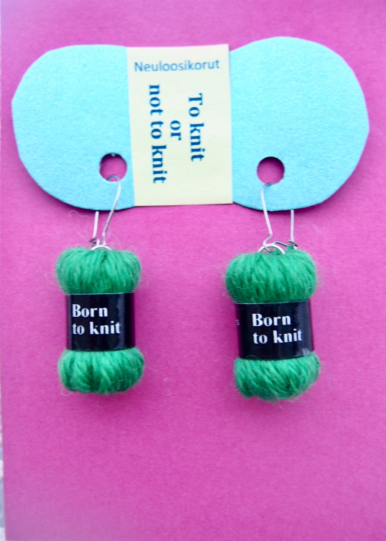 Born to Knit Dangle Earrings