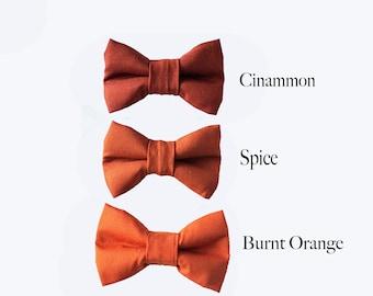 Orange bow tie bow tie for men wedding bow tie groomsmen bow tie boys bow tie photo prop