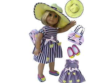 Straw Sombrero Hat 18 in Doll Clothes For American Girl or Boy Dolls