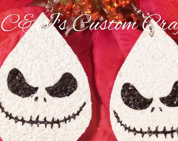 Christmas Earrings,Halloween Earrings,Faux Leather Earrings