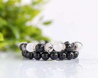 ZEBRA STONE Chakra Necklace All Natural Semi-Precious Stones Healing Metaphysical