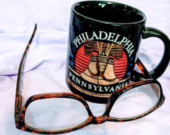 The Philadelphia Bell Mug with Stars.