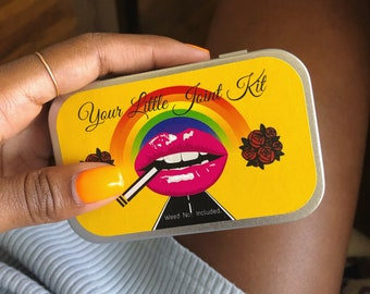 OG Joint Kit, Includes Everything Pictured, Stoner Kit, Weed Accessory, Stoner Gift, Weed Box, Weed Kit, Stash Box, Stoner Gift for Him,