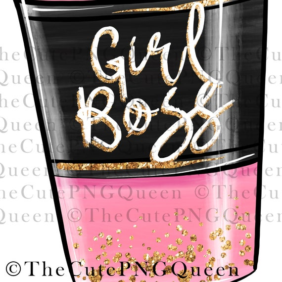 girl boss illustration coffee addict glitter red hair girl boss png coffee lover mom life Caffeine Queen Sublimation Design