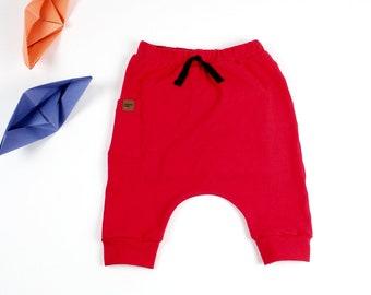 Kids Harem Shorts,Kids Red Harem Shorts Capris,Toddler Baby Boy Girl Harem Shorts,Kids Summer shorts,Kids Pants,Kids Pocket Short