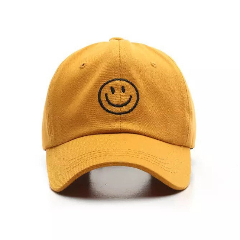 Happy smiley face dad hat summer vibes