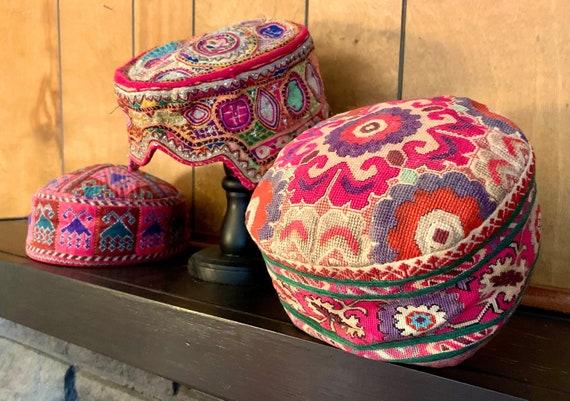 Three Vintage Asian Hats