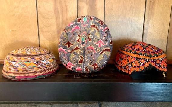 3 Asian Vintage Hats