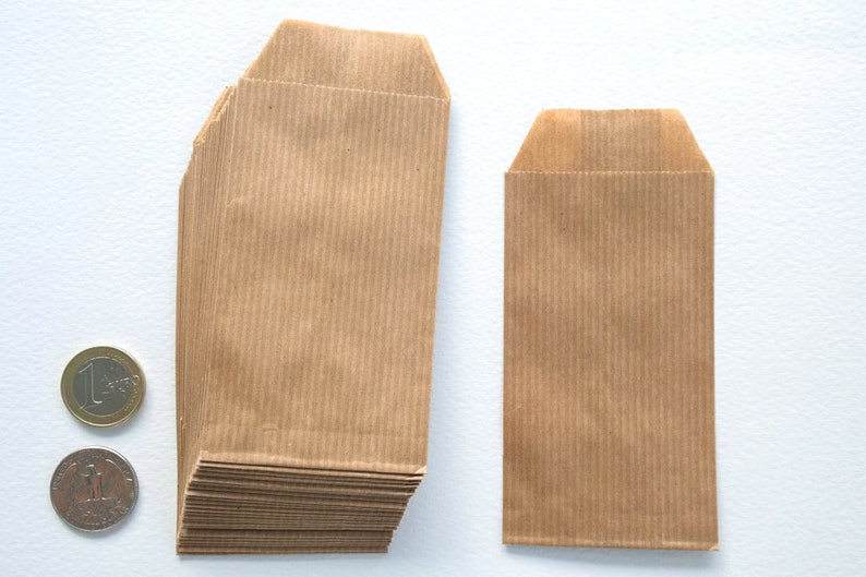 75 for food mini paper bags 100 small paper bags for storage 50 retail packaging recycled paper for scrapbooking kraft paper bags