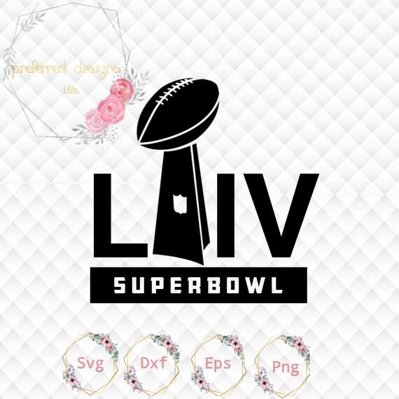 Football Super Bowl 54 Liv Logo Simplified Design Svg File Etsy