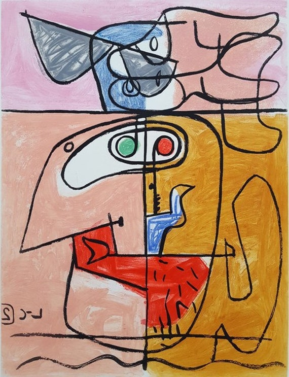 Shop Le Corbusier Exhibition poster vintage autrement abstract from Etsy on Openhaus