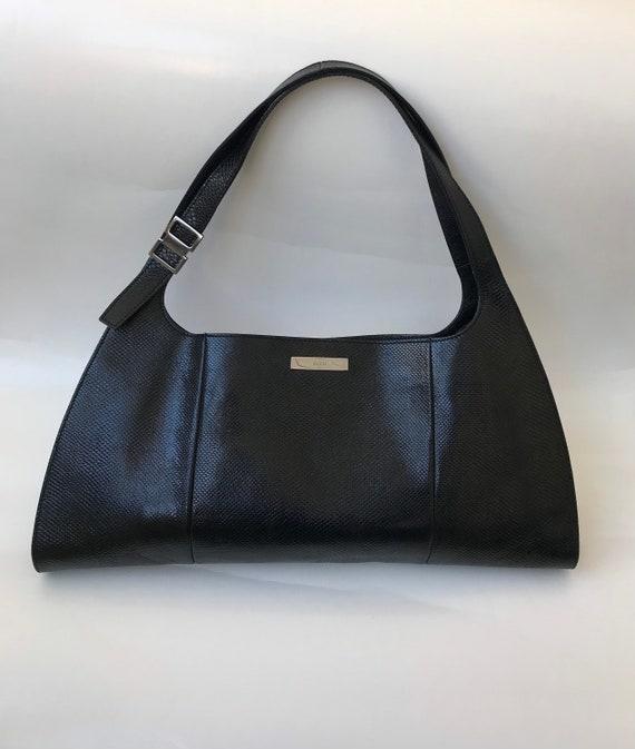 Gucci by Tom Ford black lizard hobo bag