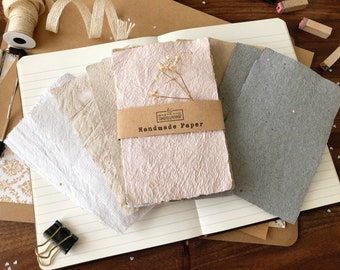 Handmade Paper Bundles   Pack of 5   A6 Samplers