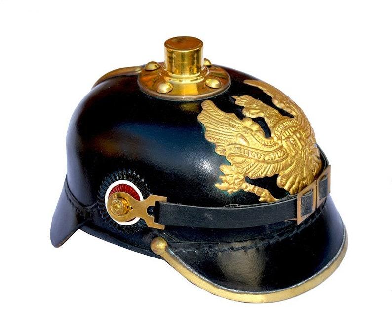 Armour German Pickle Haube Helmet WWI SCA Leather Style Scary Helmet Display Helmet Role Play Helmet Wearing Helmet-Halloween Cap