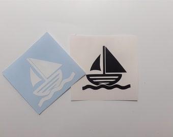 BG 382 Sail Away Sailing Decal Sticker for Car Window