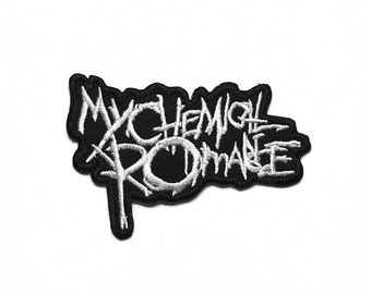 SET OF THREE MUSIC SEW//IRON ON PATCHES: MYCHEMICAL BULLET BRING ME