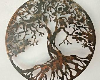 Tree Of Life Metal Wall Art Etsy