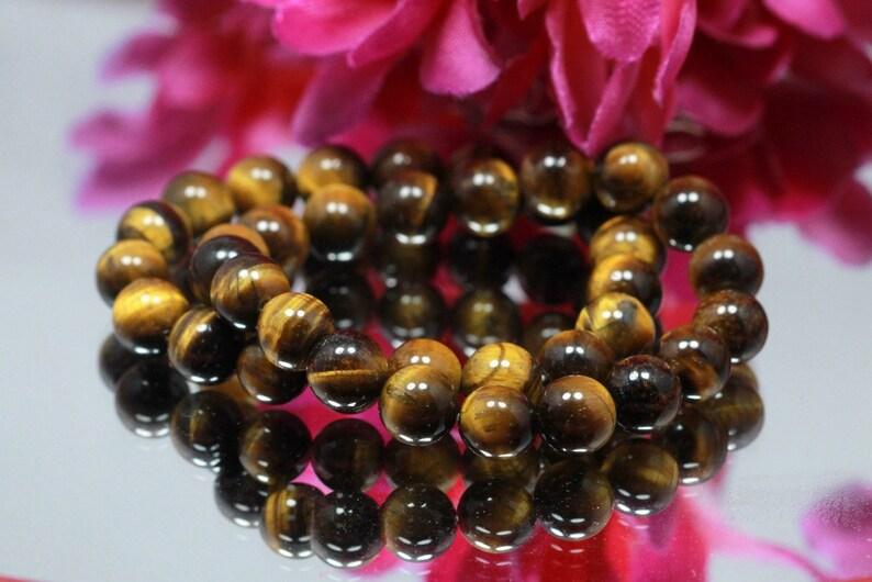 AS-120 AAA Quality Natural  Tiger Eye Handmade Bracelet Rare.. Fashion Jewelry Women Bracelet 10.MM Size Balls Beads Bracelet