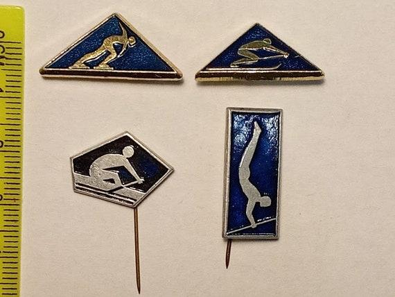 Kinds of sports, Sports badge, Metal Badge, Vintag