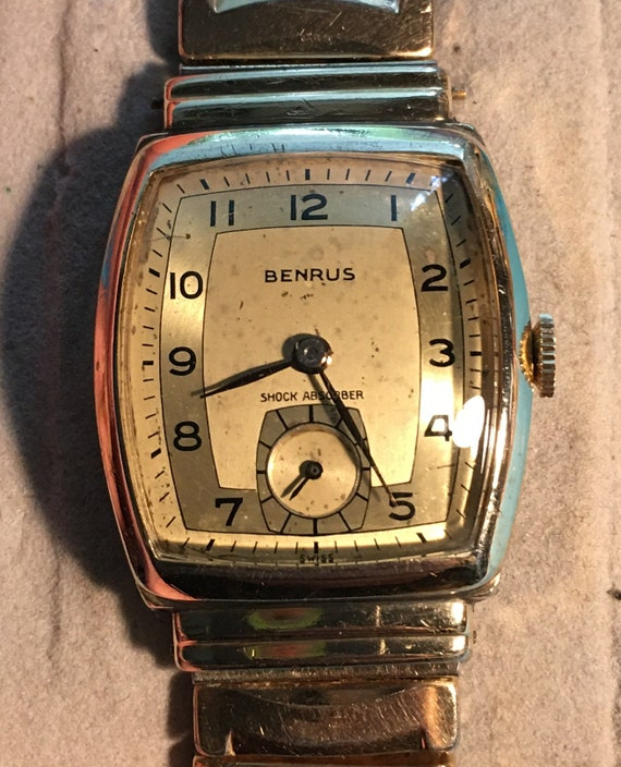Vintage Benrus 1930's, hooded lugs, serviced with… - image 1