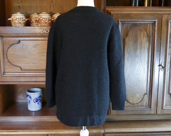 Vintage 80s 90s handmade knit cardigan abstract r… - image 5