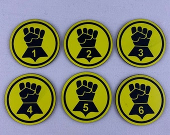 Imperial Fists Objective Tokens