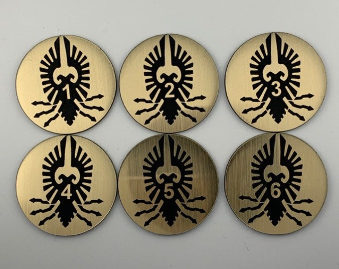 Imperial Custodians Objective Tokens