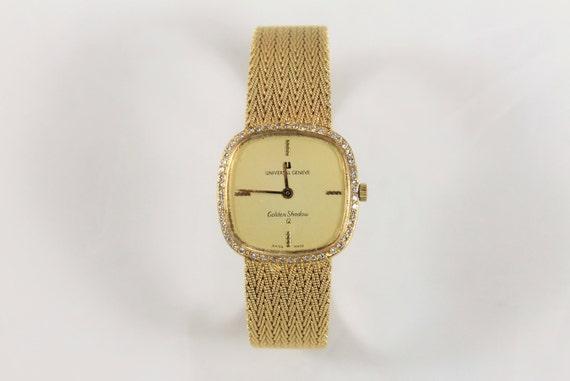 18K Yellow Gold Ladies Vintage Universal Geneve Br