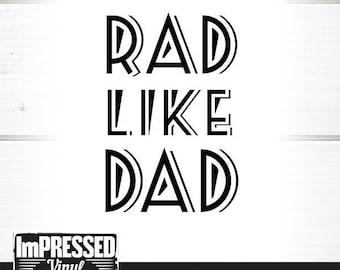 Rad Like Dad Svg Etsy